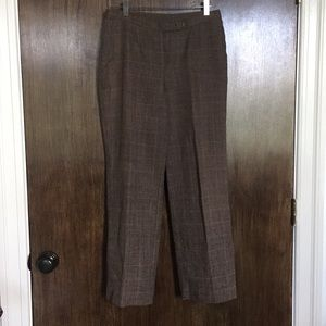 Checked flair trousers